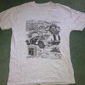 Back To The Future Delorean Blueprints T-shirt